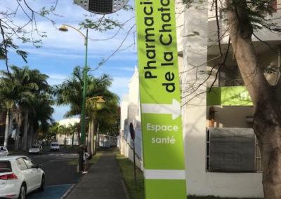 Totem pharmacie de la chatoire -Bienvu Réunion