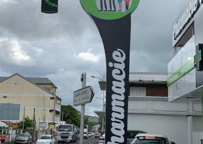 Totem pharmacie de Cambuston-Bien-Vu Réunion