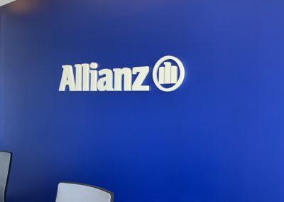 Lettrines Allianz blanches Accueil