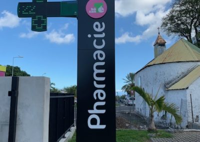 Totem Pharmacie bois d'olives -Bien-Vu Réunion
