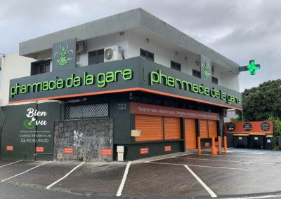 Lettres boitiers verte -PH de la Gare -Bien-Vu Réunion